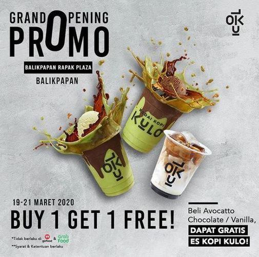 Grand Opening Promo Beli 1 Avocatto Coklat / Vanilla Gratis 1 KEDAI KOPI KULO Balikpapan Rapak Plaza (24158819) di
