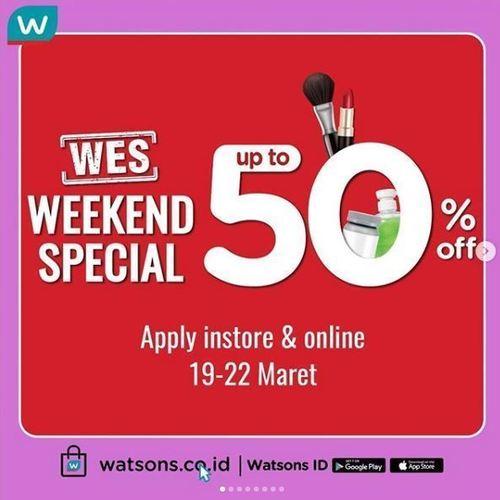 WATSONS Special up to 50% off Weekend periode (24158895) di Kota Jakarta Selatan