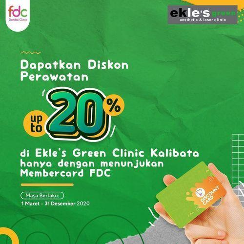 FDC Clinic Promo Diskon 20% di Ekle's Green Clinic dengan menunjukkan Membercard FDC (24160971) di Kota Jakarta Selatan