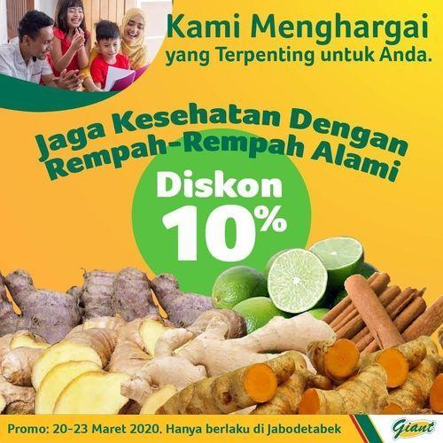Giant Rempah-Rempah Alami Diskon 10% (24162723) di Kota Jakarta Selatan