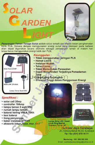 Penerangan Taman Tenaga Surya Solar Garden Light Paket Led Murah Berkualitas Surabaya Jualo