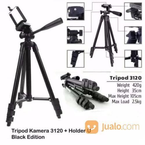 Tripod Stand 1M Weifeng WT-3120A Black Hitam Edition + Holder U Medium (24371247) di Kota Surakarta