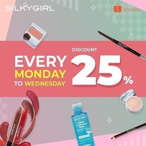 Silkygirl Shopee Discount 25% Every Monday To Wednesday (24437131) di Kota Jakarta Selatan