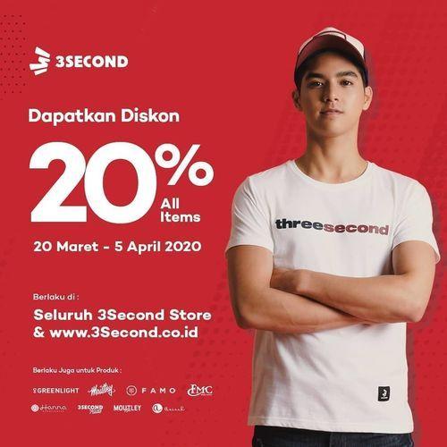 3Second Special Deals Diskon 20% All Items (24449959) di Kota Jakarta Selatan