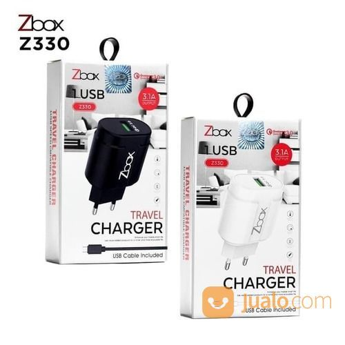 Cas Handphone Hp Travel Charger ZBOX Z330 3.1A Qualcomm Fast Charging (24451383) di Kota Surakarta