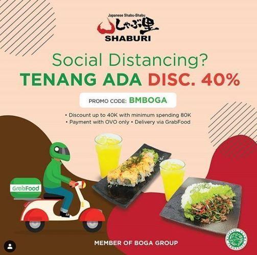 Dengan Pembayaran Melalui OVO Pemesanan Via GRABFOOD - SHABURI Promo Discount Up To 40% Off (24456723) di Kota Jakarta Selatan