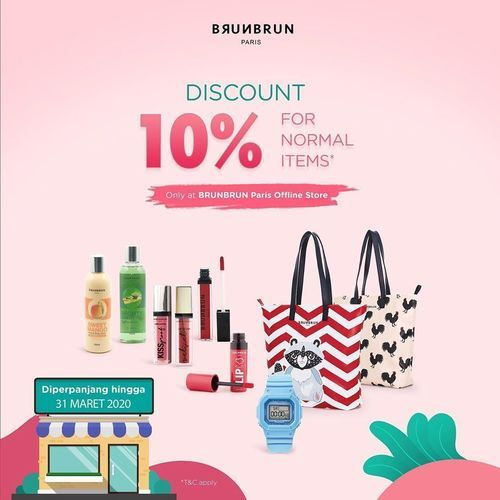 BRUNBRUN Paris Discount 10% Normal Items at Offline Store (24545187) di Kota Jakarta Pusat