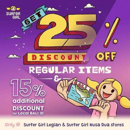 Surfer Girl 25% Off Regular Items +15% Additional Discount