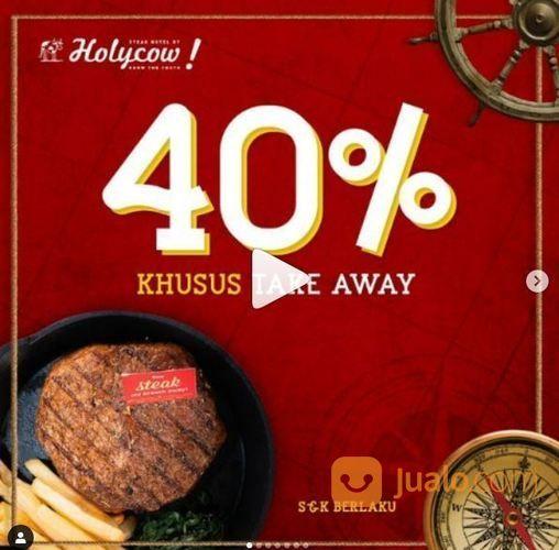 Steak Hotel by HOLYCOW! Promo Diskon 40% untuk Menu Pilihan - Khusus Takeaway (24559419) di Kota Jakarta Selatan