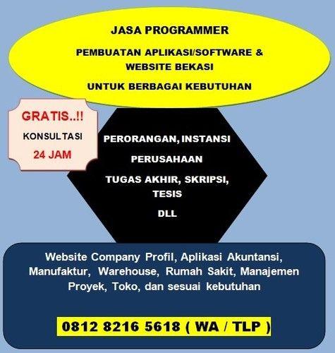 Jasa Pembuatan Program Aplikasi Dan Website (24643731) di Kota Bekasi