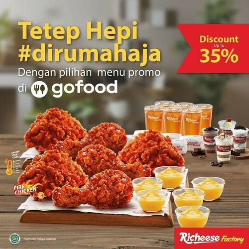 Richeese Promo Gofood Discount 35%