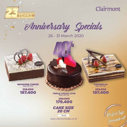 Clairmont Anniversary Specials
