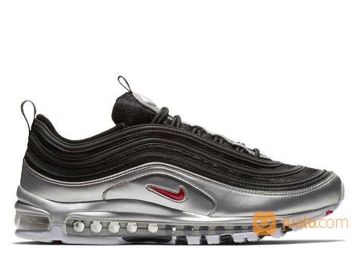 Nike Air Max 97 Metallic Silver Black - US size 7.5