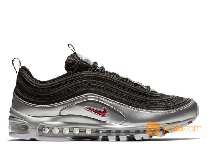 Nike Air Max 97 Metallic Silver Black - US size 10.5