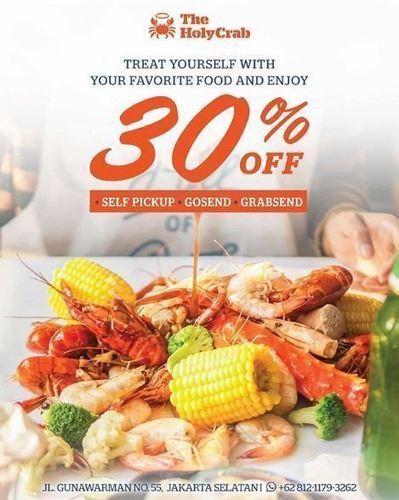 The Holy Crab Promo Discount 30% via Gosend/Grabsend (24864687) di Kota Jakarta Selatan