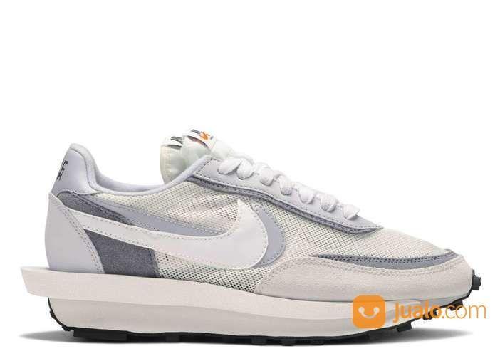 Nike LD Waffle Sacai White Grey - US size 3.5 (24920187) di Kota Jakarta Selatan