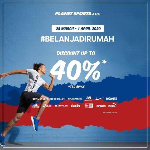 Planet Sports Discount Up To 40% (25066535) di Kota Jakarta Selatan