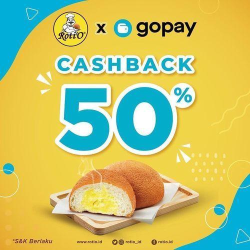 Roti'O Cashback 50% GOPAY (25071003) di Kota Jakarta Selatan