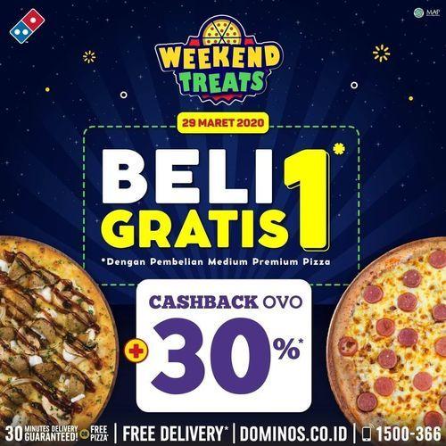 Domino's Pizza Beli 1 Gratis 1 + Cashback OVO 30% (25083747) di Kota Jakarta Selatan