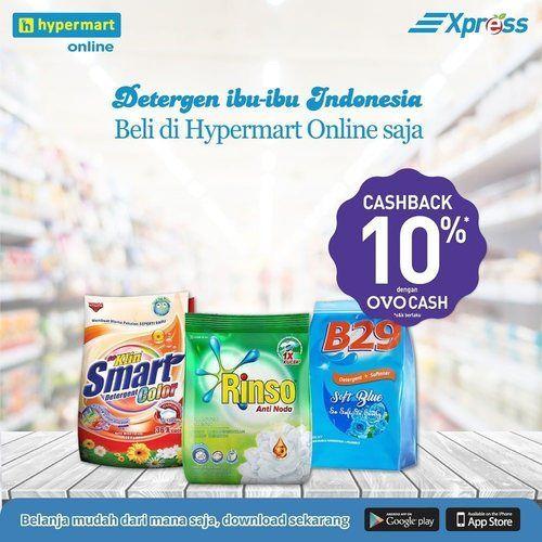 Hypermart Promo Detergen Cashback OVO 10% (25151679) di Kota Jakarta Selatan