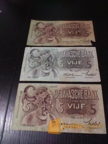 Jual Uang Kuno Seri Wayang 5 Gulden Malang Jualo