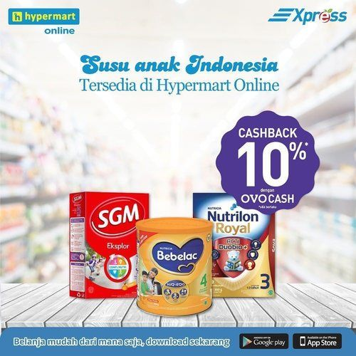 Hypermart Promo Susu Anak Cashback OVO 10% (25235487) di Kota Jakarta Selatan