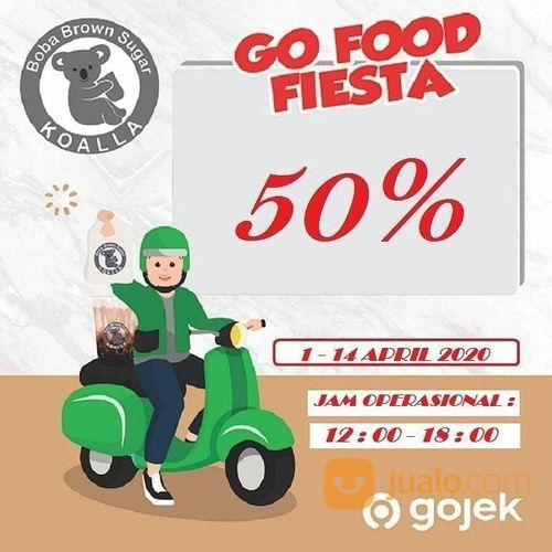 Koalla Promo Diskon 50% GoFood (25244379) di Kota Jakarta Selatan