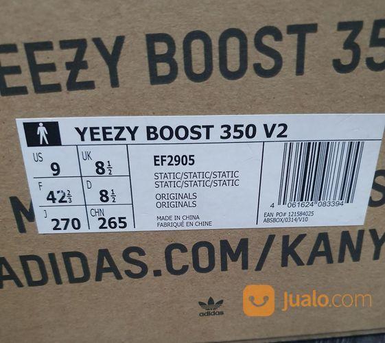 Yeezy Boost 350 V2 Static - US size 9 (25254943) di Kota Jakarta Selatan