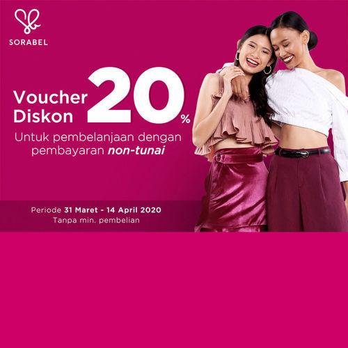 Voucher Diskon Sorabel 20% (25302599) di Kota Jakarta Pusat