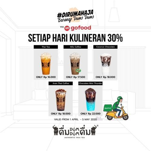 Dum Dum Thai Drinks Gofood Diskon 30% (25317907) di Kota Jakarta Selatan