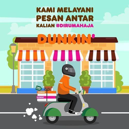 Dunkin Donuts Promo Gratis Biaya kirim & Discount 20%* (25318823) di Kota Jakarta Selatan