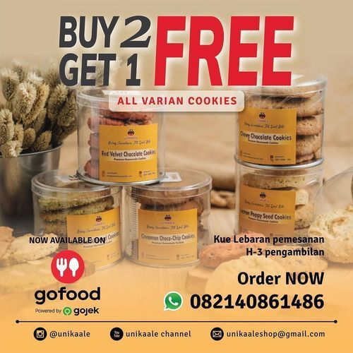 Unikaale Cookies Rungkut Surabaya, Buy 2 Get 1 Free (25385315) di Kota Surabaya
