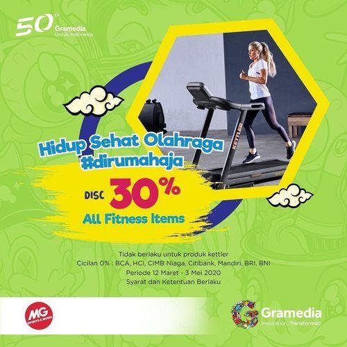 Gramedia Diskon 30% ALL FITNESS ITEMS (25398715) di Kota Jakarta Selatan
