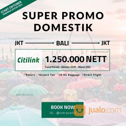 Retravel Promo Tiket Pesawat Jakarta-Bali Periode Oktober 2020 (25400343) di Kota Jakarta Selatan