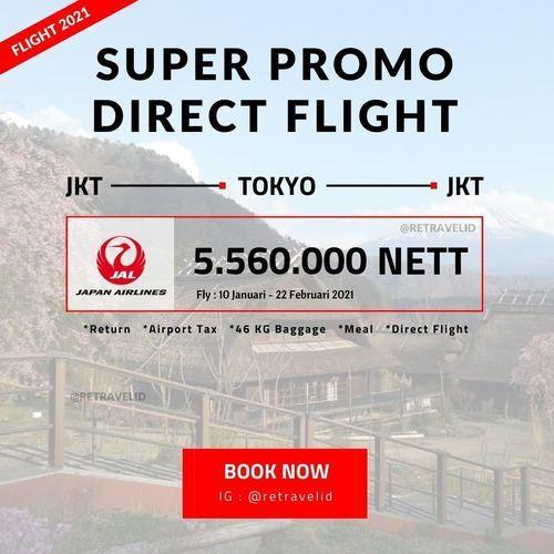 Retravel Promo Flight Jakarta-Tokyo 10 Januari - 22 Februari 2021 (25400667) di Kota Jakarta Selatan