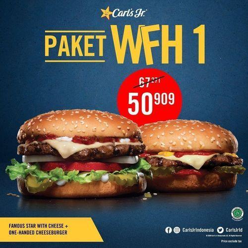 CarlsJr Promo Paket WFH Diskon 40% di GrabFood (25460475) di Kota Jakarta Selatan