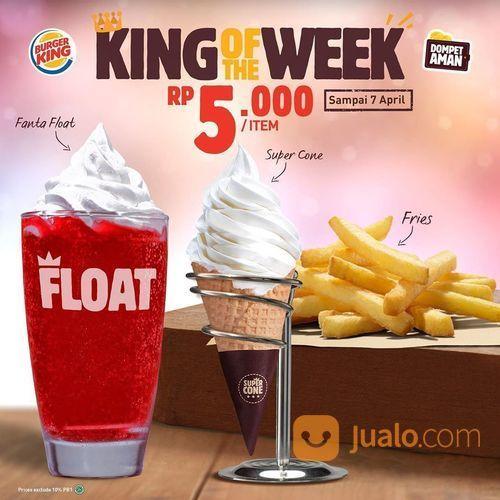 Burger King Promo King of the Week Harga mulai dr Rp 5000 (25460683) di Kota Jakarta Selatan