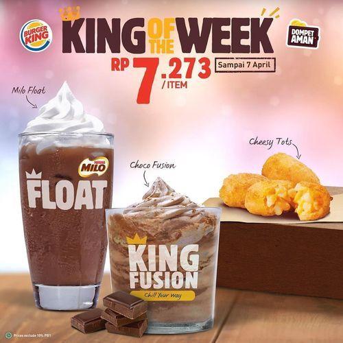 Burger King Promo King of the Week Harga mulai dr Rp 5000 (25460691) di Kota Jakarta Selatan