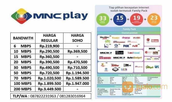 Mnc Play Internet Tv Kabel 100 Fiber Optic Bandung Jualo