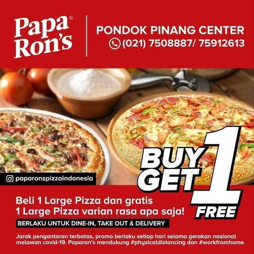 Papa Ron's Pizza Buy 1 Get 1 (25490143) di Kota Jakarta Selatan