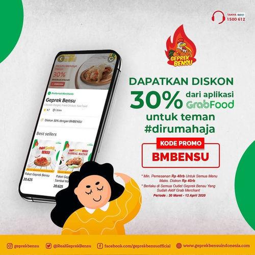 Geprek Bensu Diskon 30% Aplikasi GrabFood (25495963) di Kota Jakarta Pusat