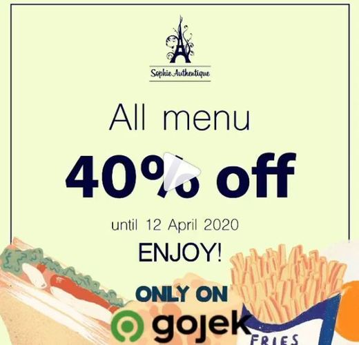 Sophie Authentique all menu 40% off (25499775) di Kota Jakarta Selatan