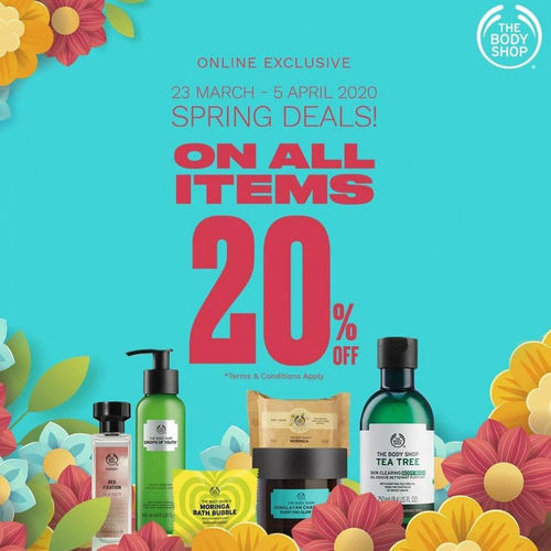 The Body Shop Spring Deals 20% Discount on all items (25526671) di Kota Jakarta Selatan