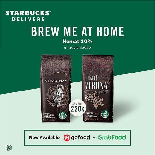 Starbucks Brew at Home Promo Hemat 20% (25536951) di Kota Jakarta Selatan