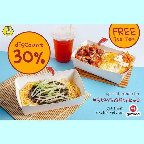 Hello Chickin Diskon 30% via GoFood + Free Ice Tea S&K Berlaku (25537063) di