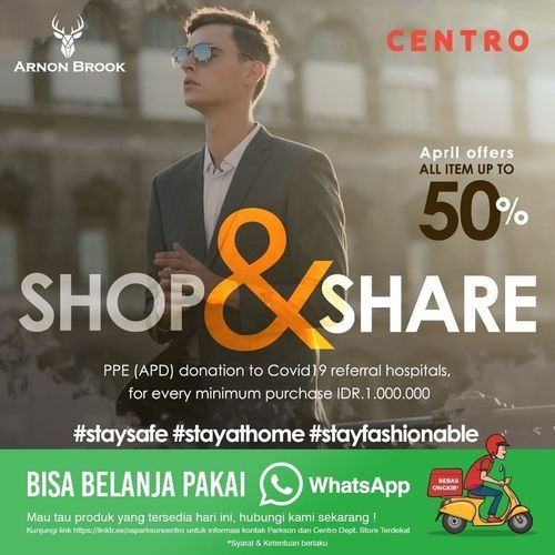 Centro Department Store ALL ITEM up to 50% Sale (25568371) di Kota Jakarta Selatan