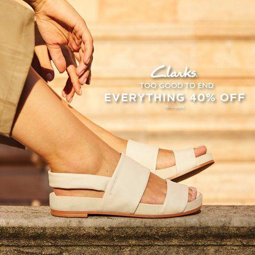 Clarks Sale 40% OFF on Normal Price Items (25568687) di Kota Jakarta Selatan