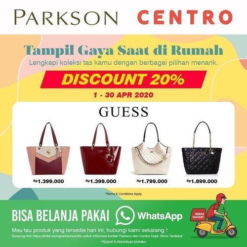 Centro Dept Store Diskon 20% Produk Brand GUESS (25569207) di Kota Jakarta Selatan