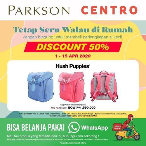 Centro Dept Store Diskon 50% Produk Hush Puppies (25569275) di Kota Jakarta Selatan