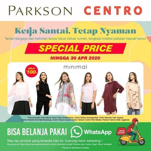 Centro Dept. Store Promo Brand MINIMAL (25569447) di Kota Jakarta Selatan